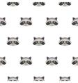 Raccoon head cartoon seamless pattern vector image