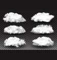 realistic elements set fluffy white clouds vector image