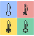 thermometer icon set vector image