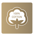 Cotton label vector image vector image