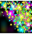 Backround with colourful sparlking confetti vector image