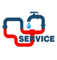 Service plumbing and sanitary ware vector image vector image