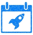 Rocket Calendar Day Grainy Texture Icon vector image