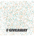 glittering confetti giveaway competition template vector image vector image