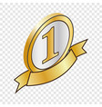 label number one isometric icon vector image