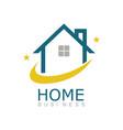 Line home business logo vector image