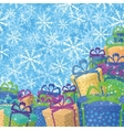 Christmas background with gifts vector image vector image