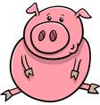 little pig or piglet cartoon vector image vector image