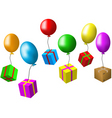 balloons and presents vector image vector image
