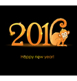 New Year card with monkey2 vector image vector image