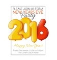 Invitation to New Years party with balloons vector image