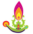 Indian Oil Lamp vector image vector image