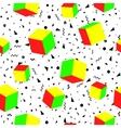 Geometric seamless pattern trendy memphis cards vector image