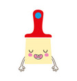 colorful kawaii cute funny brush object vector image