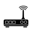contour router digital wifi technology network vector image