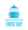 cruise ship logo isolated on white vector image