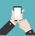 hand holding smart phone vector image