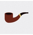 pipe smoke wooden isolated icon vector image