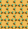 seamless pattern with bee - 1 vector image