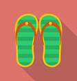 Slippers icon Modern Flat style with a long shadow vector image