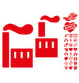 smoking industry icon with love bonus vector image