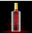 Vodka bottle mockup with your label here vector image