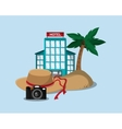 travel related icons vector image vector image