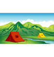 A camping site vector image vector image