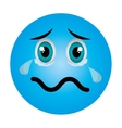 emoticon face expression isolated vector image