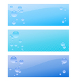 Air bubble banner set vector image vector image