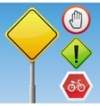 road signs with different icons vector image vector image