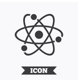 Atom sign icon Atom part symbol vector image