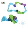 Abstract color map of Latvia vector image