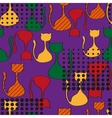 Abstract Seamless Pattern With Colorful Cats vector image