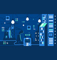 city electricity supply vector image