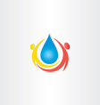 cold mineral drop of water people icon vector image