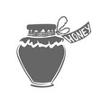 jar of honey silhouette vector image