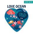 love ocean vector image