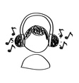 music drawing vector image