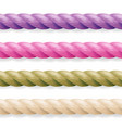 realistic rope different color thickness vector image