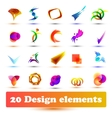 Set design elements vector image