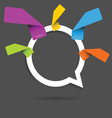 speech bubble pointer emty sticker five color vector image