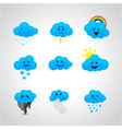 icons with different facial expressions vector image