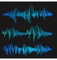 Equalizer Thin Line Set vector image