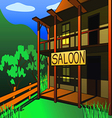 saloon vector image