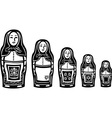 Several Russian Nested Dolls vector image