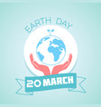 20 march earth day vector image