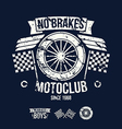 Emblem of the motorcycle club in retro style vector image
