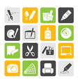 Silhouette Graphic and web design icons vector image