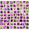 Abstract hand-painted square backgrounds Colorful vector image